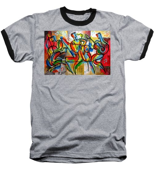 Free Jazz Baseball T-Shirt by Leon Zernitsky
