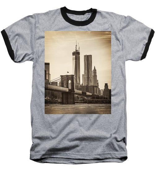 Freedom Tower Rising Baseball T-Shirt