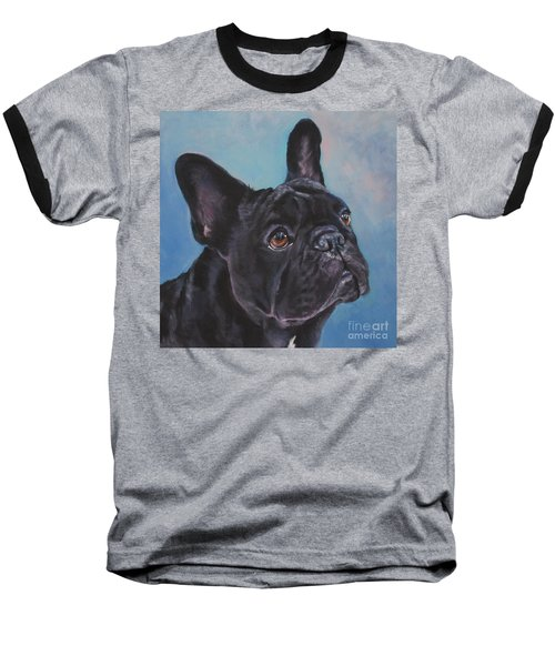 Baseball T-Shirt featuring the painting French Bulldog by Lee Ann Shepard