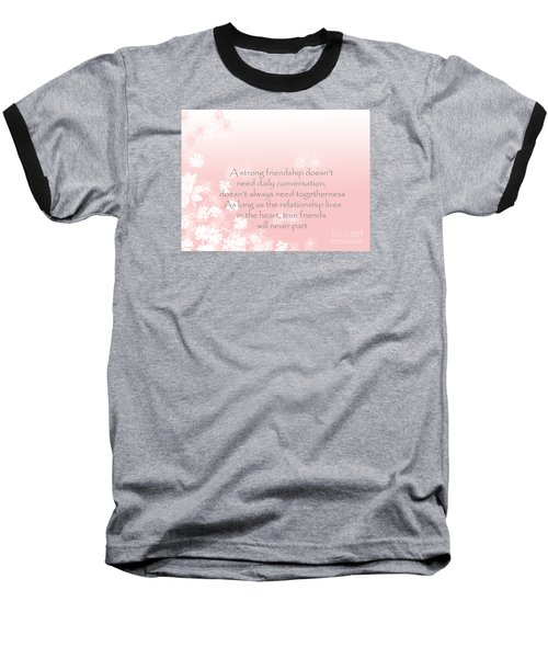 Baseball T-Shirt featuring the digital art Friendship by Trilby Cole