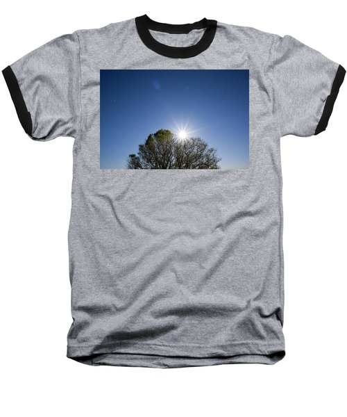 Full Moon Rising Baseball T-Shirt