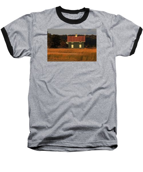 Gamecock Cottage Stony Brook New York Baseball T-Shirt by Bob Savage