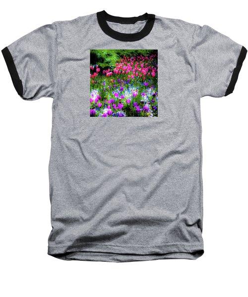 Garden Flowers With Tulips Baseball T-Shirt