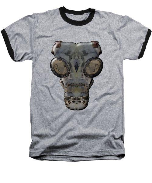 Gas Mask Baseball T-Shirt by Michal Boubin