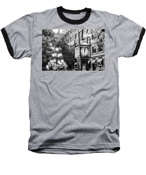 Gastown Steam Clock Baseball T-Shirt