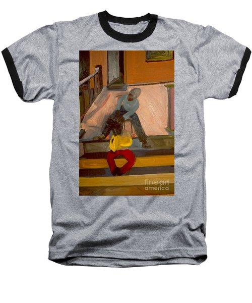 Gettin Braids Baseball T-Shirt by Daun Soden-Greene
