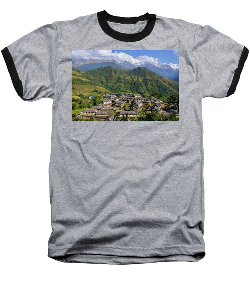 Ghandruk Village In The Annapurna Region Baseball T-Shirt