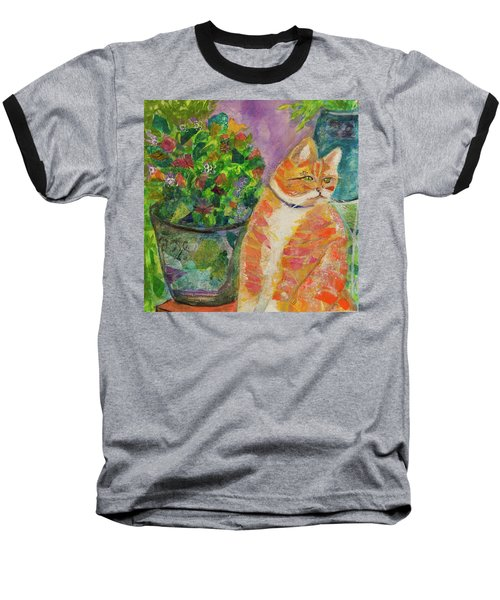 Ginger With Flowers Baseball T-Shirt