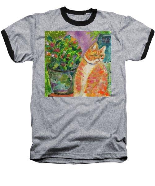Ginger With Flowers Baseball T-Shirt