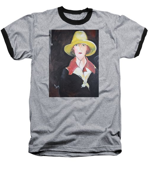 Girl In Riding Hat Baseball T-Shirt