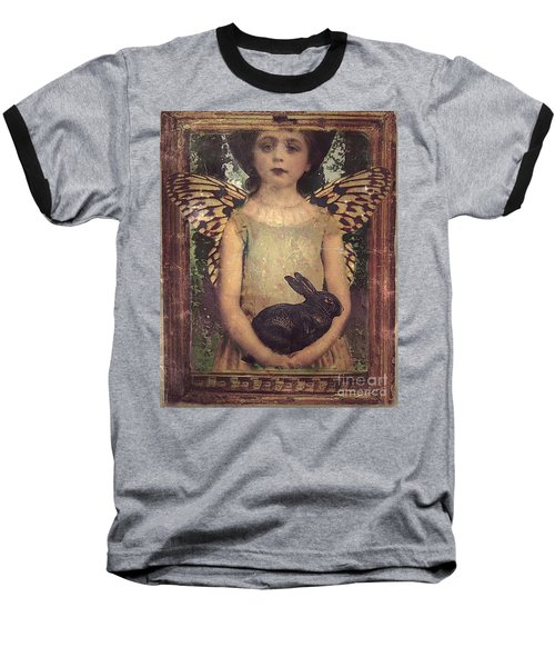 Baseball T-Shirt featuring the digital art Girl In The Garden by Alexis Rotella