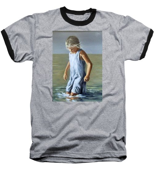 Baseball T-Shirt featuring the painting Girl by Natalia Tejera