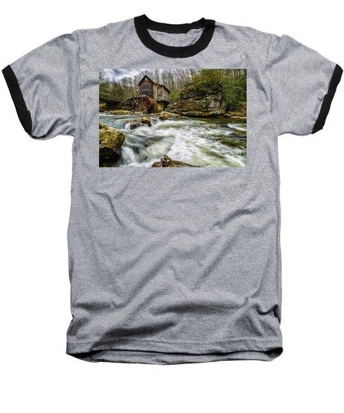 Glade Creek Grist Mill Baseball T-Shirt by Thomas R Fletcher