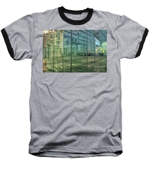 Baseball T-Shirt featuring the photograph Glass Panels At Le Grande Arche by Patricia Hofmeester