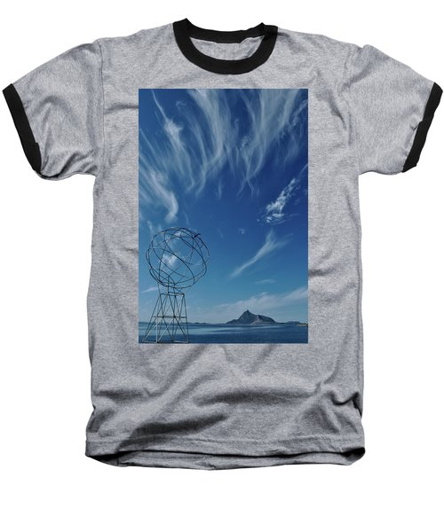 Globe Symbol View  On Sky Background In Norway Baseball T-Shirt by Tamara Sushko