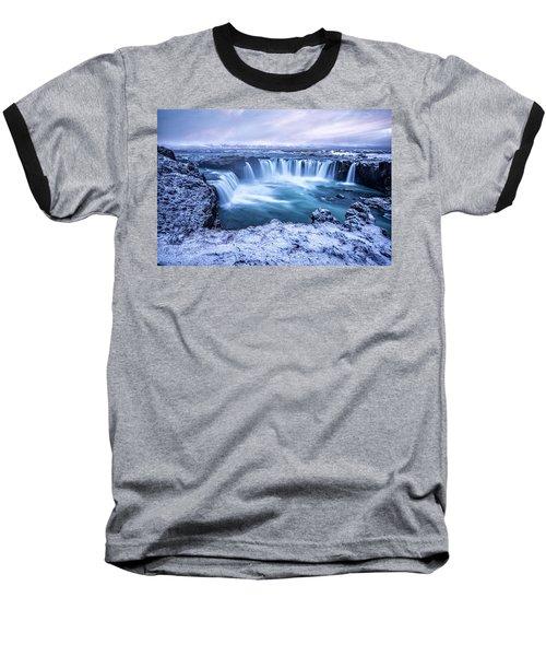 Godafoss Waterfall In Iceland Baseball T-Shirt by Joe Belanger