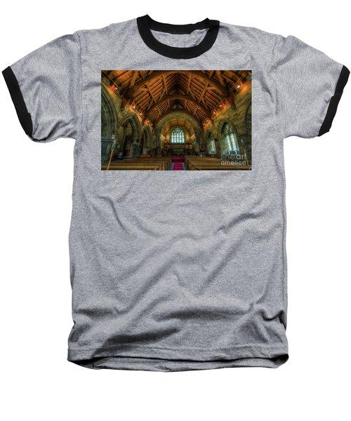 Gods Light Baseball T-Shirt by Ian Mitchell