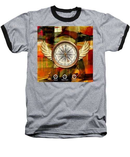 Baseball T-Shirt featuring the mixed media Going Somewhere by Marvin Blaine