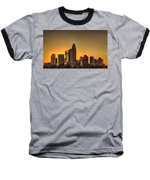 Golden Charlotte Skyline Baseball T-Shirt by Alex Grichenko