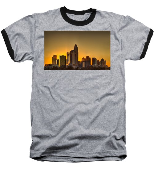 Golden Charlotte Skyline Baseball T-Shirt