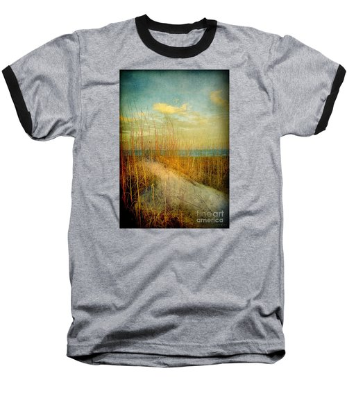 Golden Dune Baseball T-Shirt by Linda Olsen
