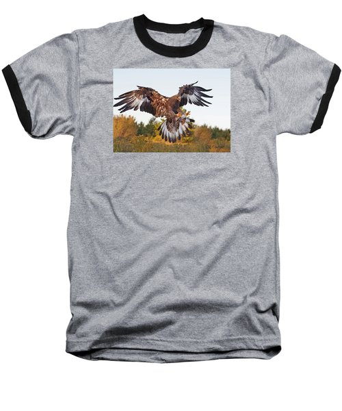 Golden Eagle Baseball T-Shirt by CR  Courson