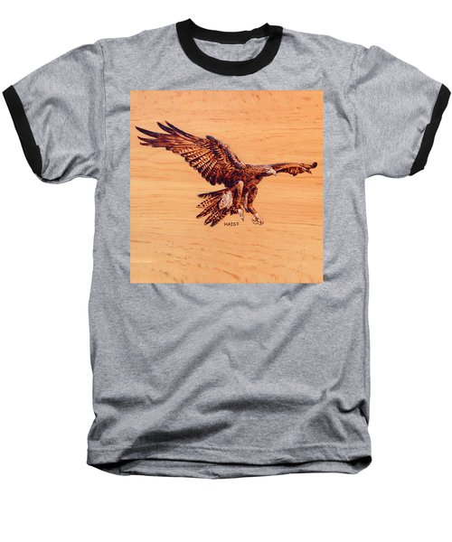 Golden Eagle Baseball T-Shirt by Ron Haist