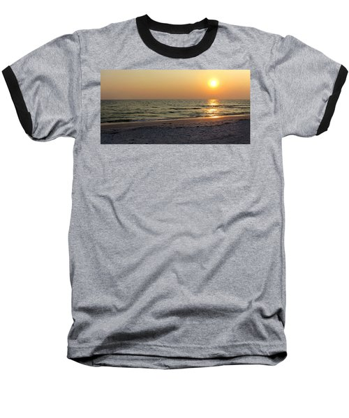 Golden Setting Sun Baseball T-Shirt by Angela Rath