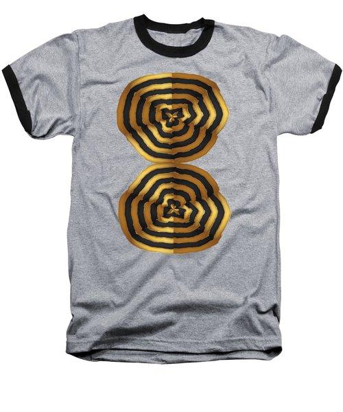 Golden Waves Hightide Natures Abstract Colorful Signature Navinjoshi Fineartartamerica Pixels Baseball T-Shirt by Navin Joshi