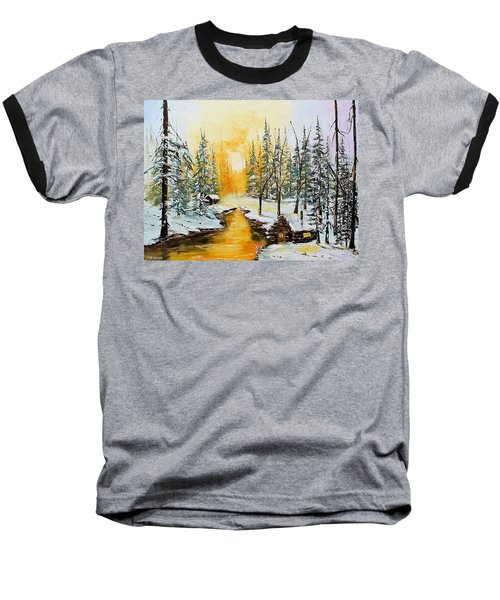 Golden Winter Baseball T-Shirt