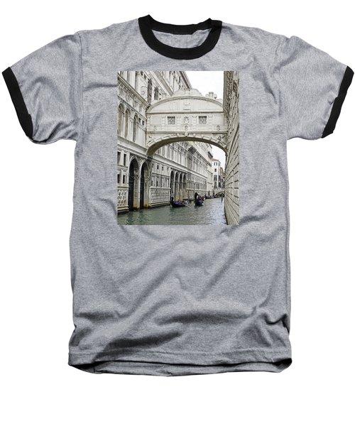 Gondolas Going Under The Bridge Of Sighs In Venice Italy Baseball T-Shirt