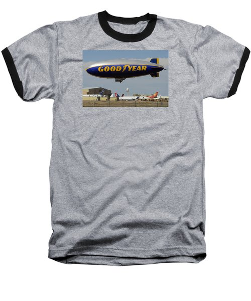 Goodyear Blimp Spirit Of Innovation Goodyear Arizona September 13 2015 Baseball T-Shirt by Brian Lockett