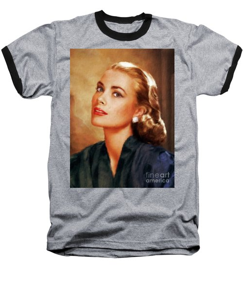 Grace Kelly, Actress And Princess Baseball T-Shirt by Mary Bassett
