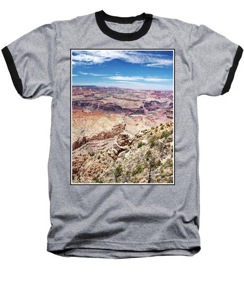 Grand Canyon View From The South Rim, Arizona Baseball T-Shirt by A Gurmankin