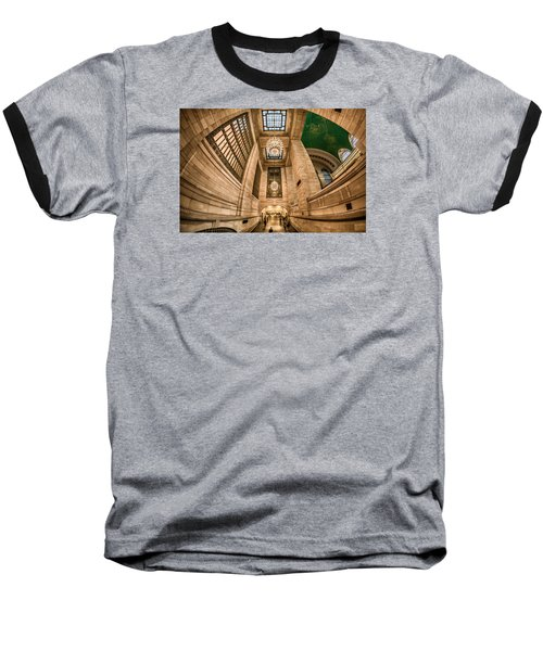 Grand Central Terminal Underpass Baseball T-Shirt by Rafael Quirindongo