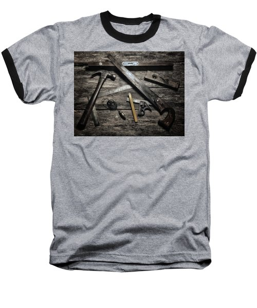 Granddad's Tools Baseball T-Shirt by Mark Fuller