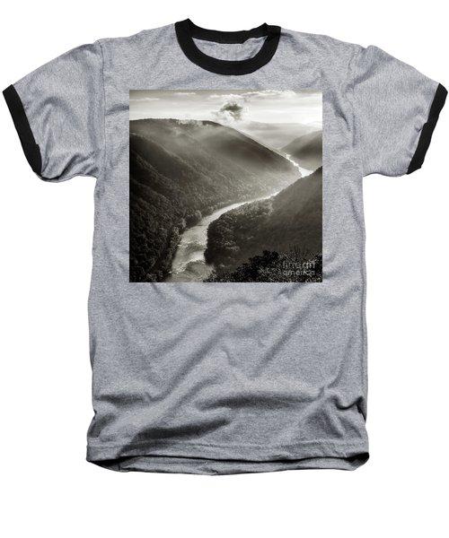 Grandview In Black And White Baseball T-Shirt
