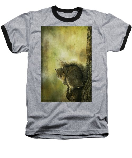 Gray Squirrel Baseball T-Shirt