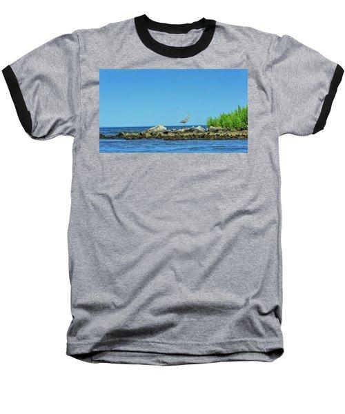 Great Blue Heron On The Chesapeake Bay Baseball T-Shirt