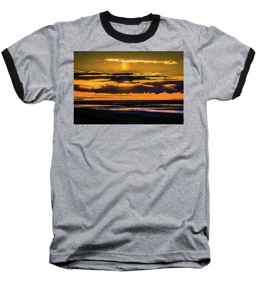 Great Salt Lake Sunset Baseball T-Shirt