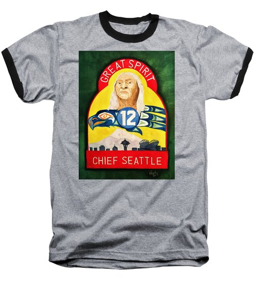 Great Spirit Seattle 12s Baseball T-Shirt by Rand Swift