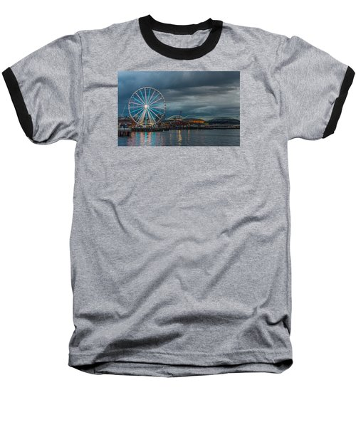 Great Wheel Baseball T-Shirt by Jerry Cahill