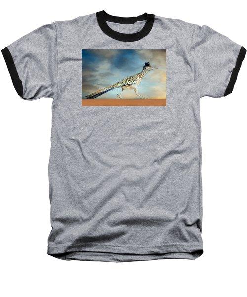 Greater Roadrunner Baseball T-Shirt by Barbara Manis