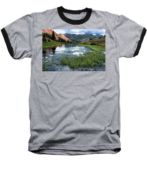Baseball T-Shirt featuring the photograph Grey Copper Gulch by Jay Stockhaus