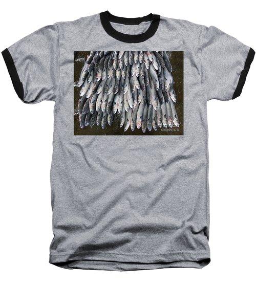Grey Mullet Fish For Sale At The Fish Market Baseball T-Shirt by Yali Shi