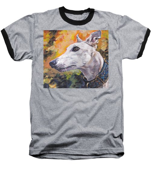 Baseball T-Shirt featuring the painting Greyhound Portrait by Lee Ann Shepard