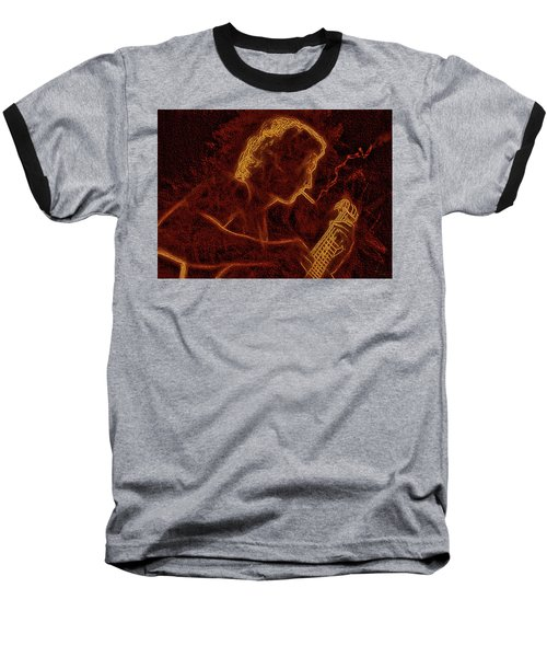 Guitar Player Baseball T-Shirt