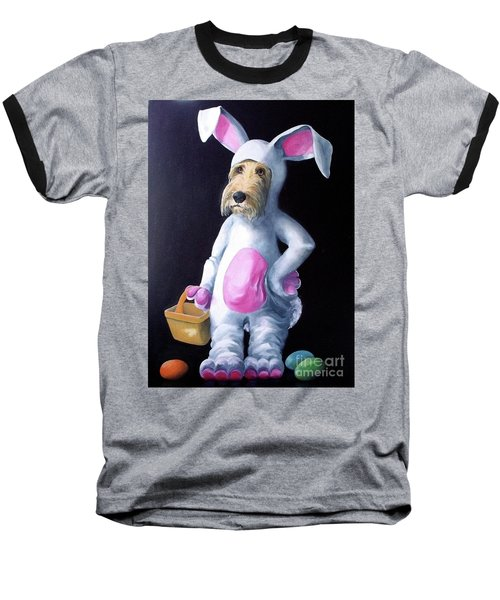 Baseball T-Shirt featuring the painting Gunther's Easter Parade by Diane Daigle