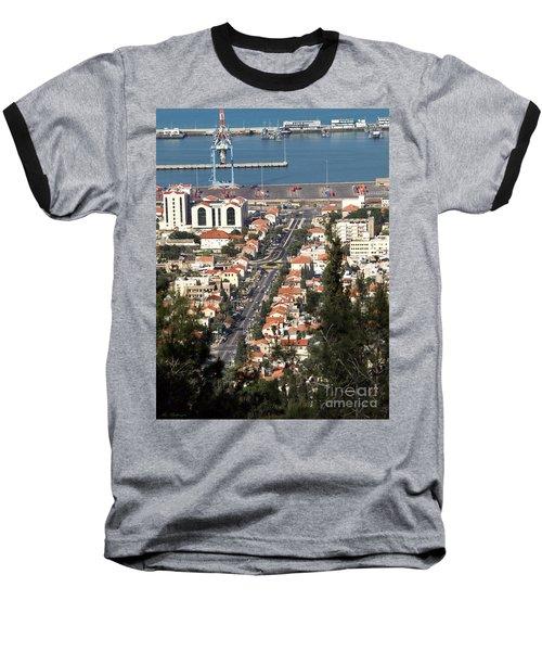 Baseball T-Shirt featuring the photograph Haifa - The German Colony by Arik Baltinester