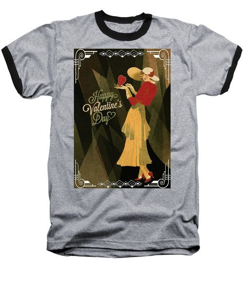 Baseball T-Shirt featuring the digital art Happy Valentines Day by Jeff Burgess